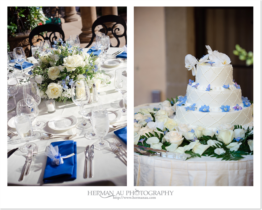 wedding cake and table decoration