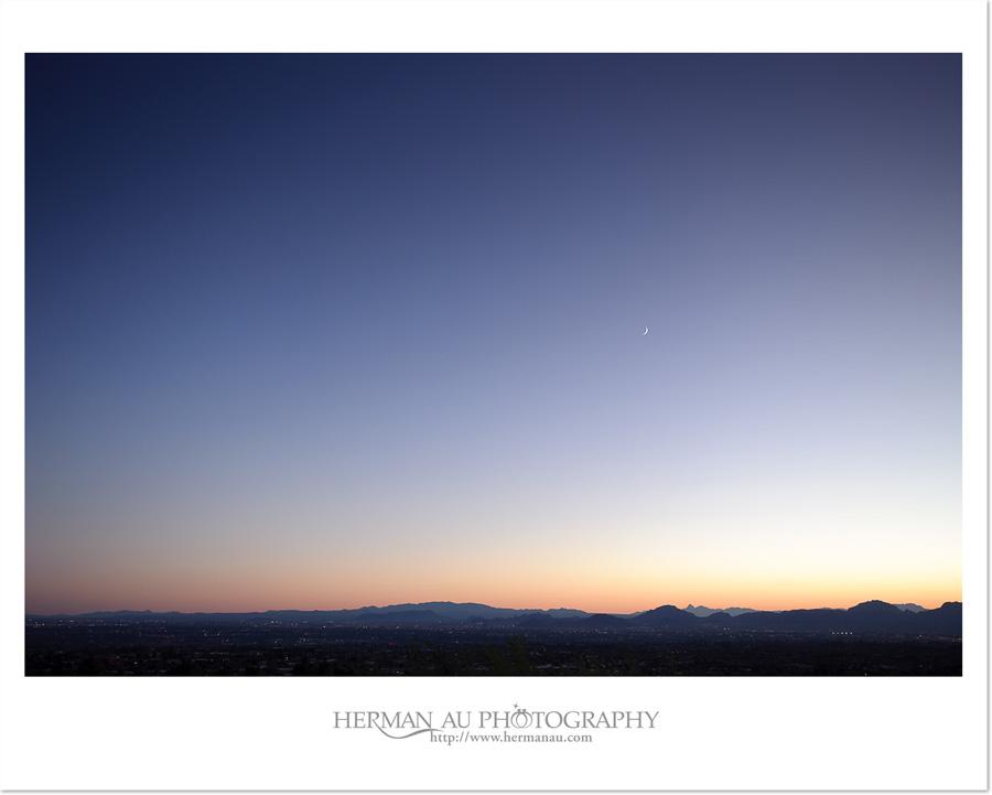 the skyline of dusk at skyline country club