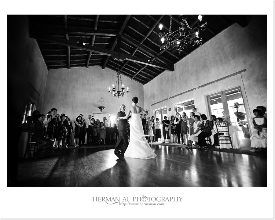 father daughter dance in black and white at la venta inn