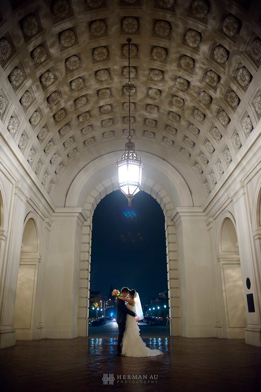 Los Angeles night time engagement session 4
