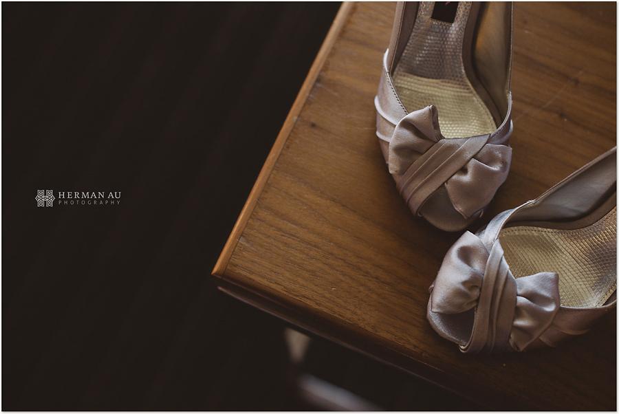 Muoy & Dave wedding shoe closeup