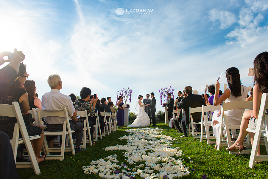Lammy & Ken Ritz Carlton Laguna Niguel wedding cliff side ceremony