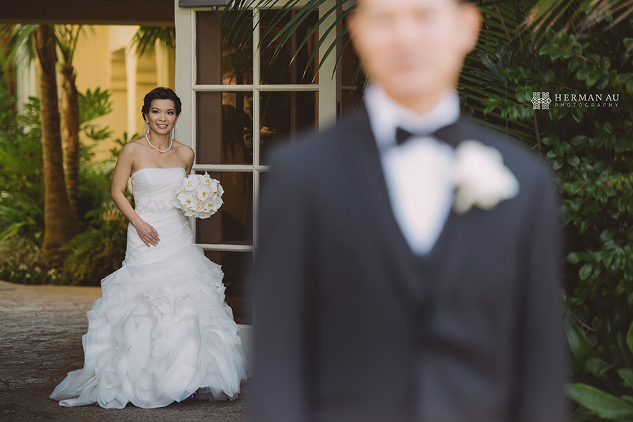 Lammy & Ken Ritz Carlton Laguna Niguel wedding first look