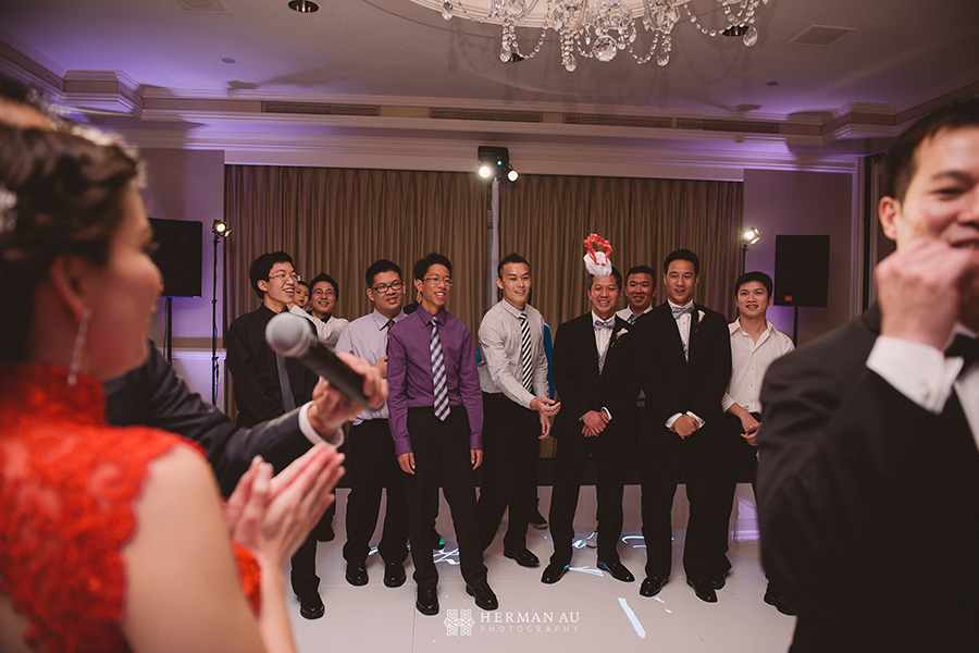 Lammy & Ken Ritz Carlton Laguna Niguel wedding garter toss