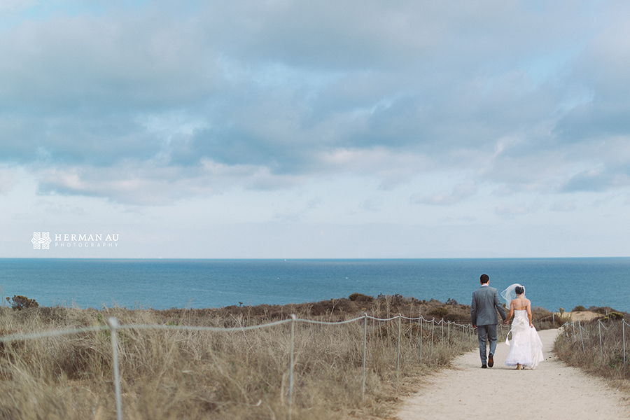 Malibu Beach side bluff wedding 1