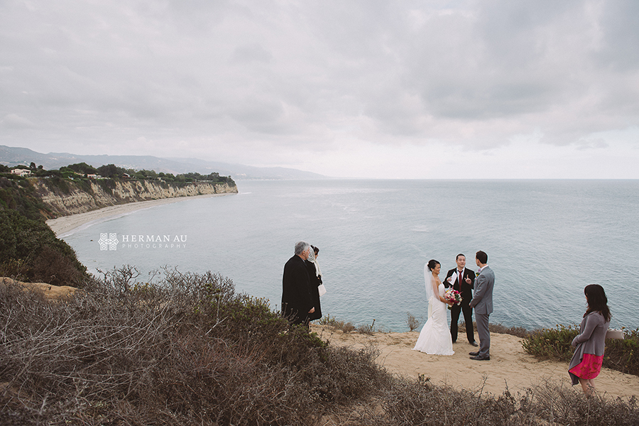 Malibu Beach side bluff wedding 2