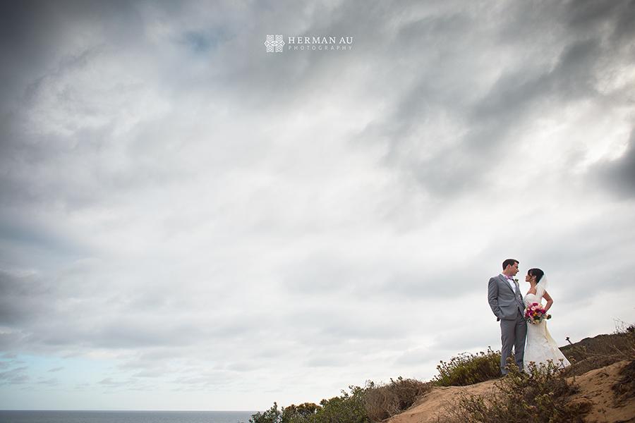 Malibu Beach side bluff wedding 3
