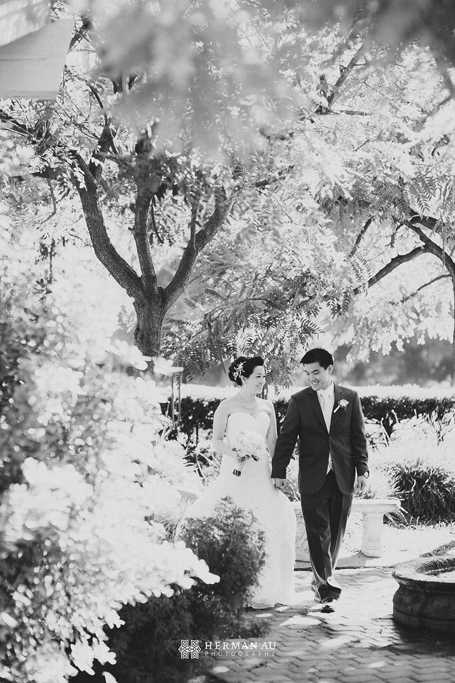 Michelle & William California Country Club bridal portrait 1