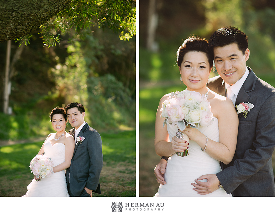 Michelle & William California Country Club bridal portrait couple vintage