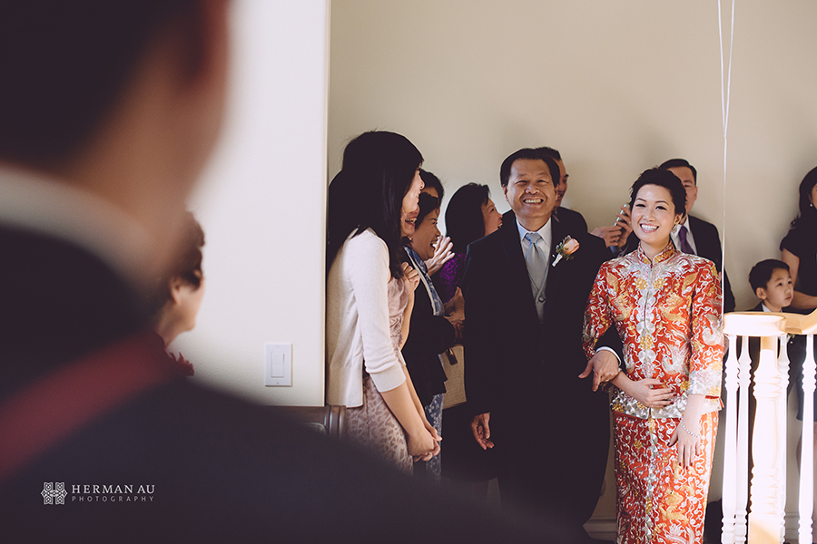 Michelle & William Tea Ceremony first look