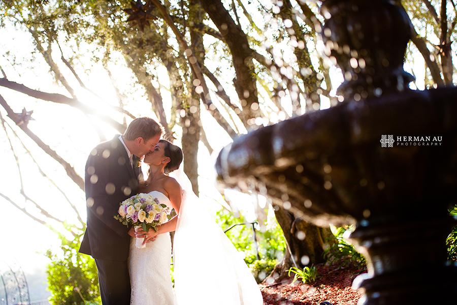 20.Padua Hills Theatre fountain wedding bridal portrait