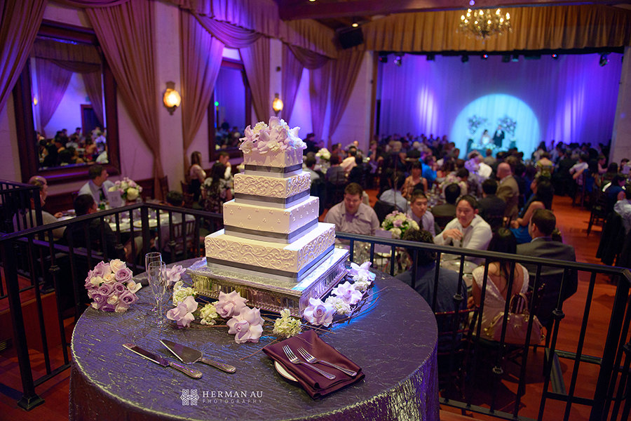 Padua Hills Theatre Wedding Reception Cake Table Lit