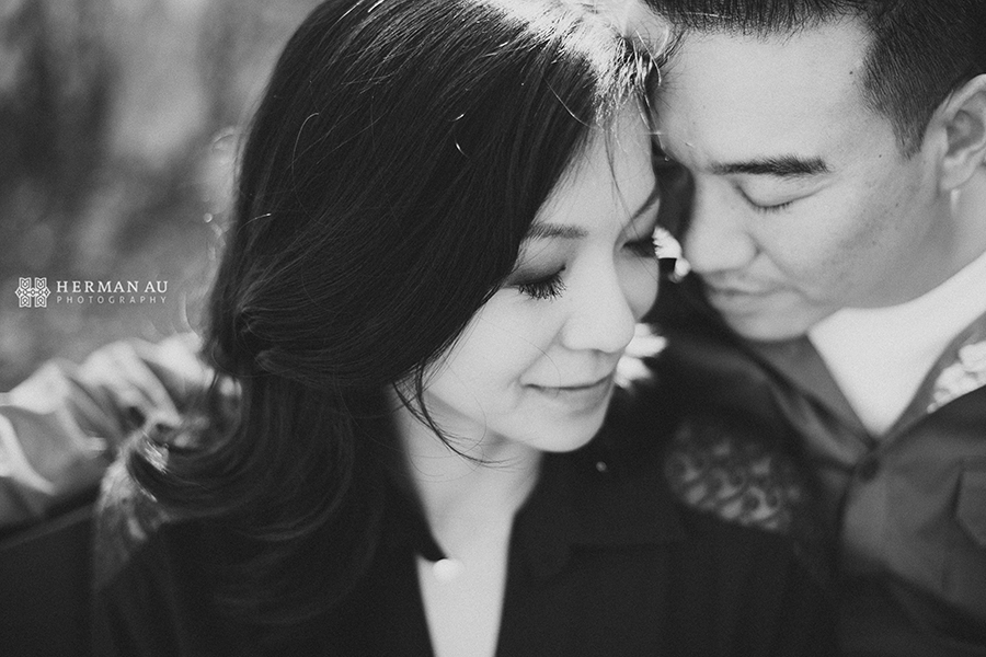 south pasadena engagement romantic vintage black and white intimate embrace