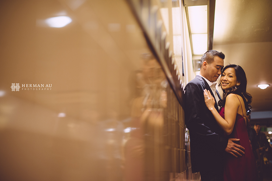 los angeles union station engagement train intimate