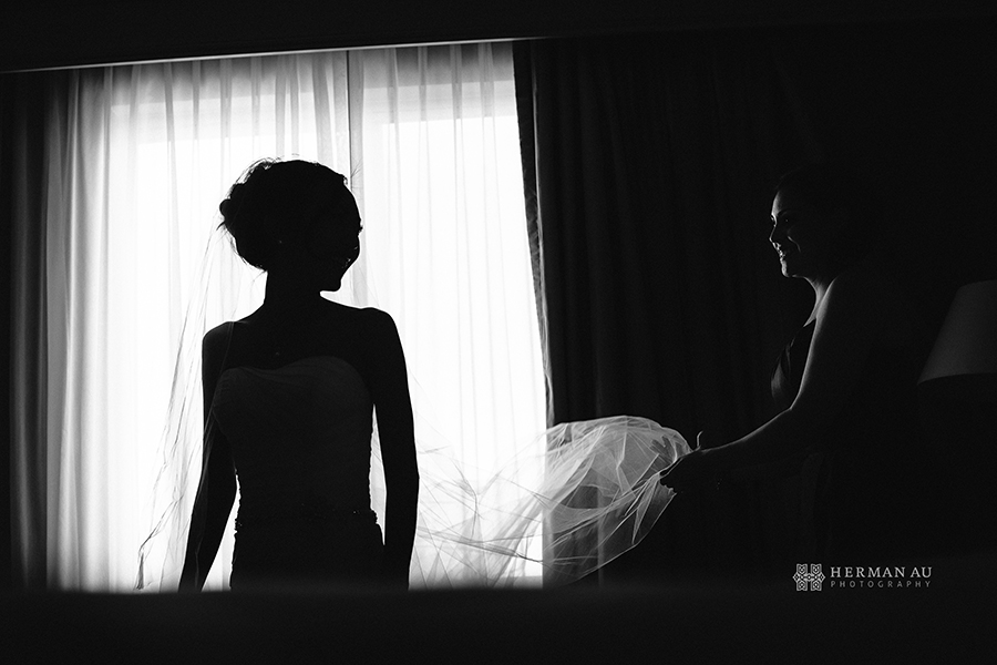 14.Silouette Wedding Veil Window