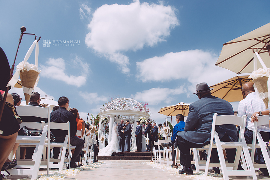 19.San Gabriel Hilton Gazebo wedding ceremony