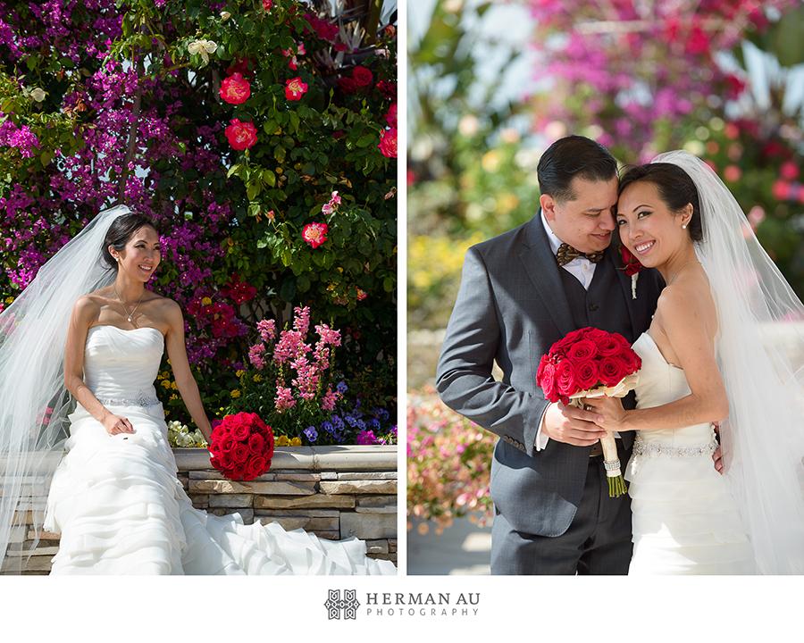 21.San Gabriel Hilton Garden Wedding Portrait