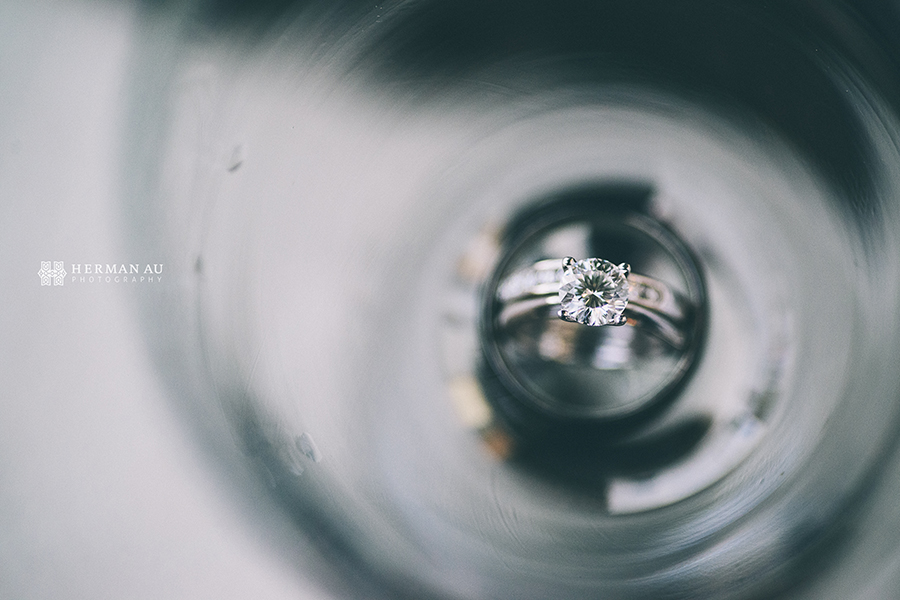 33.Creative wedding ring shot