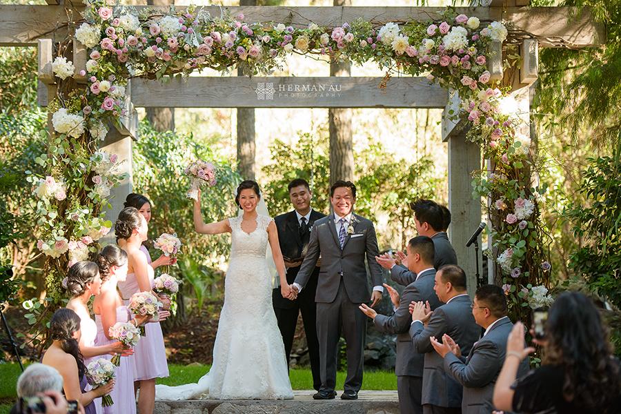 11 Calamigos Ranch Malibu CA ceremony aisle