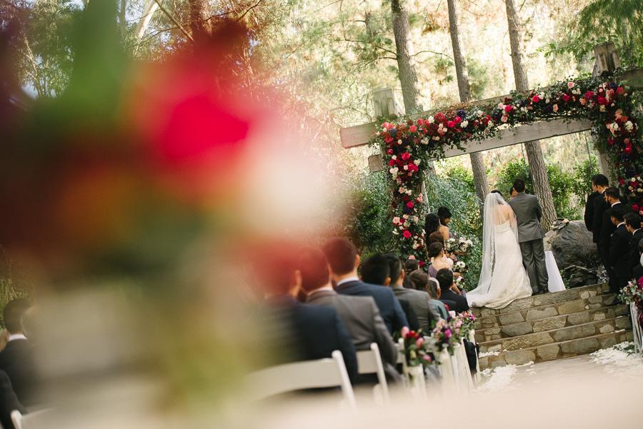 Calamigos Ranch Redwood Room Wedding Ceremony